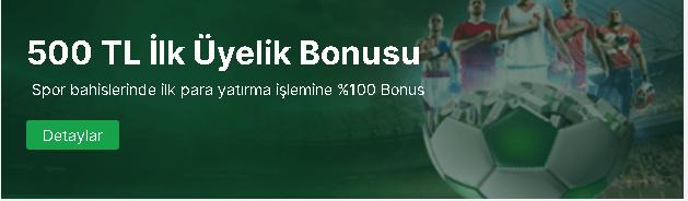 Forvetbet Bahis sitesi üyelik bonusu